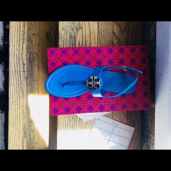 146660d6ba5 NWT Tory Burch Bryce Flat in Galleria Blue 8.5